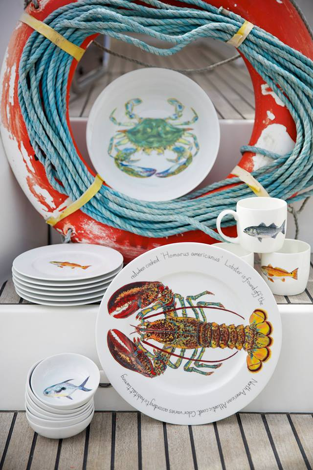 Entertaining Outdoors or on a Boat \u2013 No Worries Dishes Bowls and Serving Trays made of Melamine Acrylic and other Un-Breakable materials in Nautical ... & Dishes Bowls and Trays - The DockShop